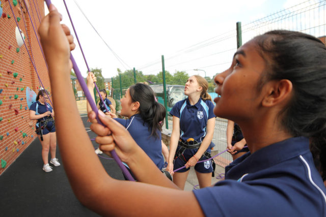 nottingham girls' high school climbing wall