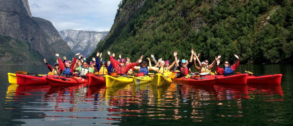 nottingham girls' high school alumnae at kayaking event