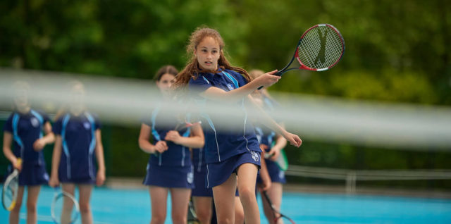 nottingham girls' high school students playing tennis