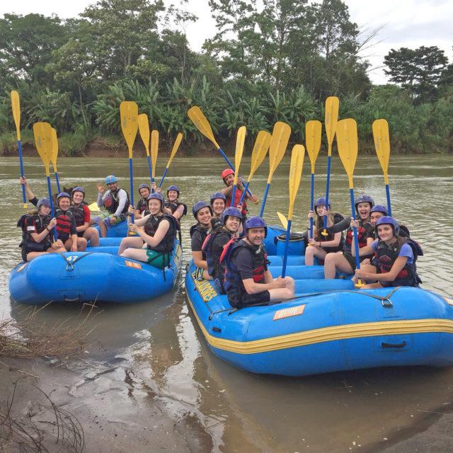 river rafting overseas school trip