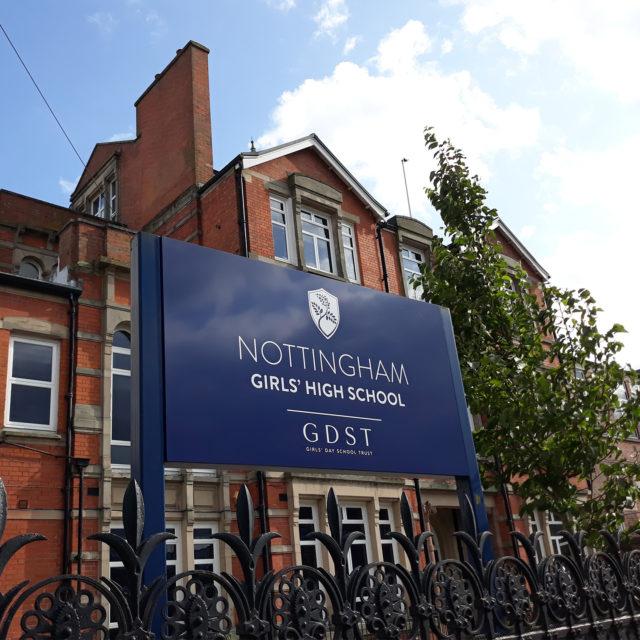 nottingham girls' high school sign