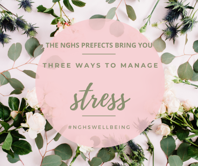 Introduction to the NGHS Prefect Wellbeing blog about three ways to manage stress